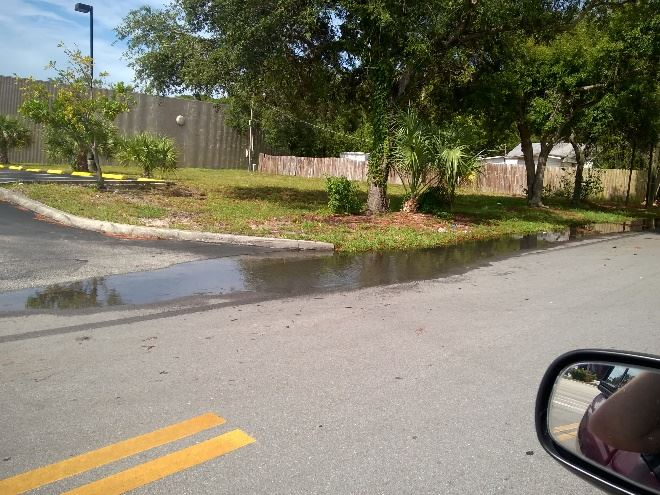 Boatman Street standing water on side of road