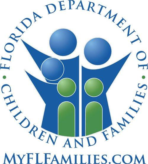 Department of Children and Families Logo - Stylized family with arms reaching out with business name Opens in new window