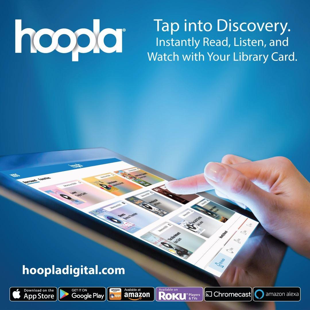 Hoopla - Digital Movies, eBooks, eAudiobooks, eComics Opens in new window