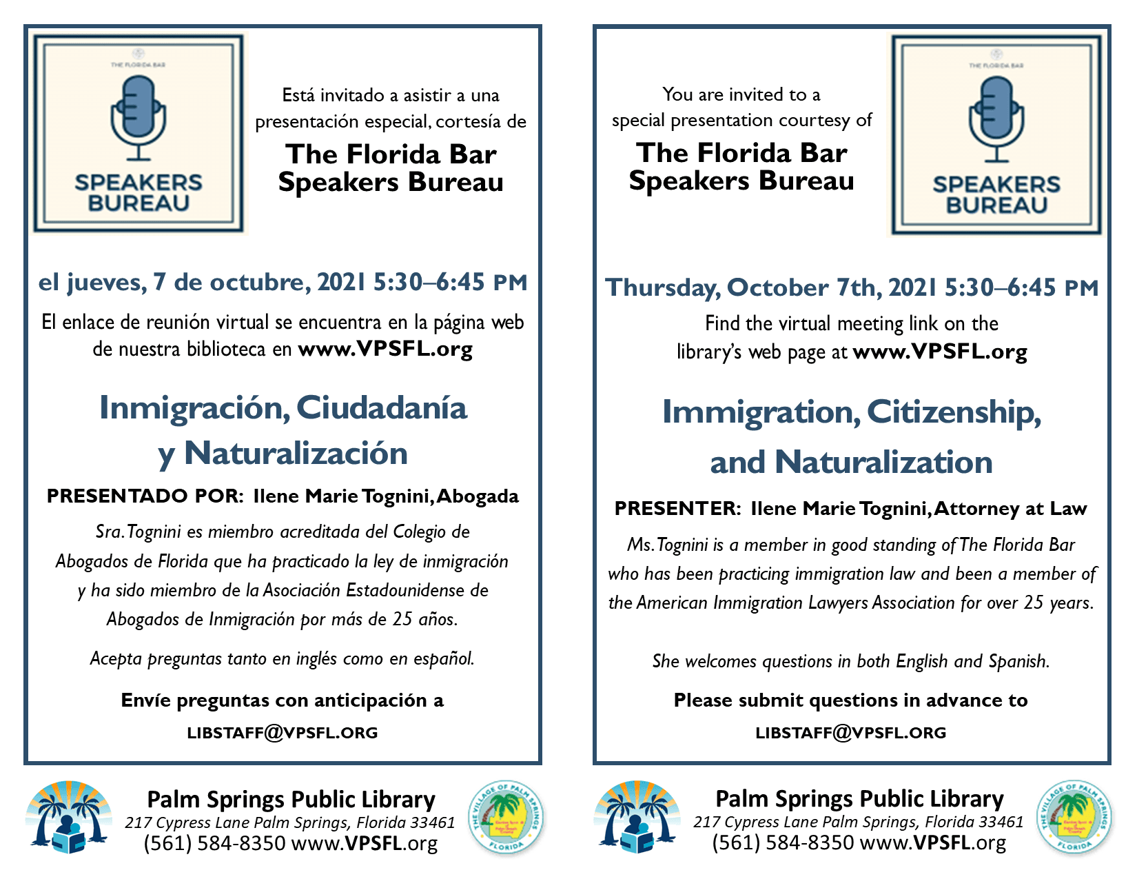 Citizenship bilingual half sheet